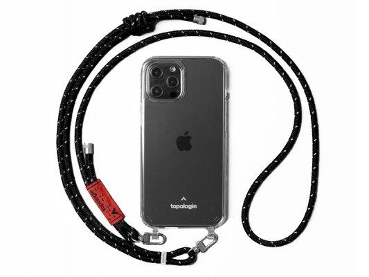 【topologie】 Verdon Phone Case -Clear- (Black Reflective)