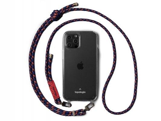 【topologie】 Verdon Phone Case -Clear- (Navy Orange)