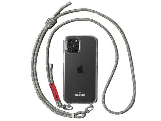 【topologie】 Verdon Phone Case -Clear- (Sage Reflective)