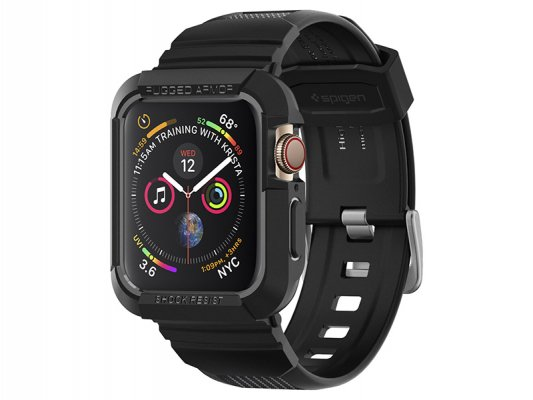 <img class='new_mark_img1' src='https://img.shop-pro.jp/img/new/icons8.gif' style='border:none;display:inline;margin:0px;padding:0px;width:auto;' />【spigen】 Apple Watch 40mm Rugged Armor Pro (BLACK)