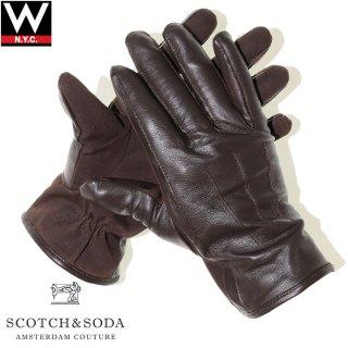 SCOTCH&SODA(スコッチ アンド ソーダ) レザー アンド キャンバス グローブ
