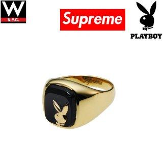 SUPREME(シュプリーム) × Playboy(プレイボーイ) 14金 ゴールド リング