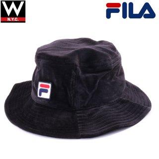 FILA(フィラ) オリジナル ロゴ ベロア バケットハット