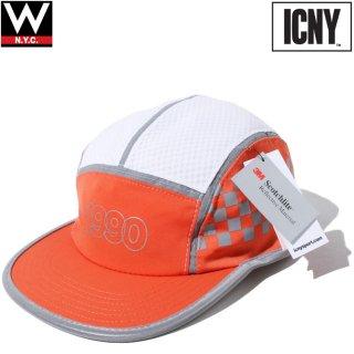 ICNY(アイシーエヌワイ) チェッカー 5パネル ストラップバック キャップ