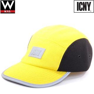 ICNY(アイシーエヌワイ) オリジナルロゴ 5パネル ストラップバックキャップ