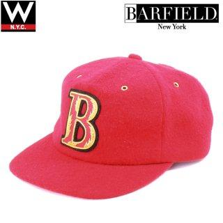 TYRONE BARFIELD(タイロンバーフィールド) オリジナルロゴ ウール ストラップバック キャップ