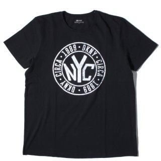 DKNY(ダナキャラン) オリジナル パターン プリント 半袖 Tシャツ