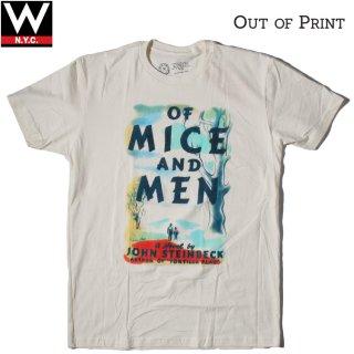 Out of Print(アウトオブプリント) オブ・マイス・アンド・メン 半袖 Tシャツ