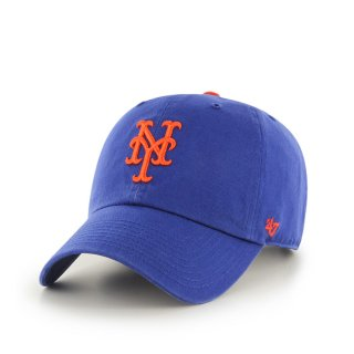 47brand(フォーティセブン ブランド) ニューヨーク メッツ '47 クリーン アップ 6パネル ストラップバックキャップ