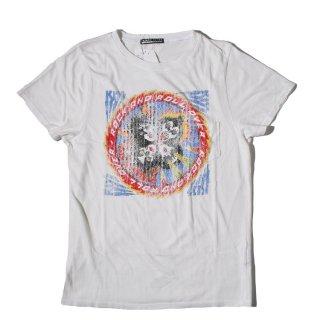 Prince Peter(プリンス ピーター)キッス プリント クラッシュ加工 半袖 Tシャツ