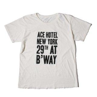 ACE HOTEL(エースホテル)ルーム キーカード デザイン 半袖 Tシャツ