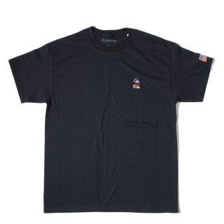 Superior(スペリオール) ミッキーマウス コラボレーション ポイント デザイン 半袖 Tシャツ