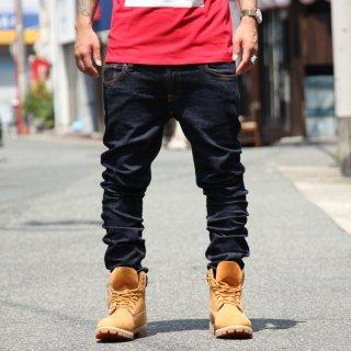 Nudie Jeans(ヌーディージーンズ) ロングジョーン ツイル リンス デニムパンツ