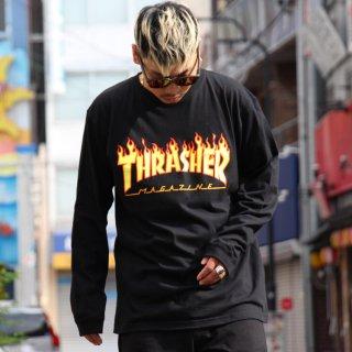 THRASHER(スラッシャー) オリジナル ロゴ デザイン 長袖 Tシャツ