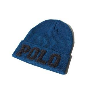 POLO RALPH LAUREN(ポロ・ラルフローレン) ロゴ コットン ニットキャップ ニット帽 ビーニー