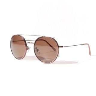 ADVANCE(アドバンス) ラウンド タイプ フレーム ダブル レンズ サングラス メガネ