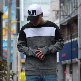 DKNY(ダナキャラン) オリジナル パターン クルーネック スウェット