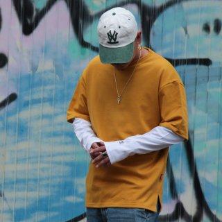 W NYC(ダブルエヌワイシー) ワンポイント ヘリテイジロゴ 長袖 Tシャツ