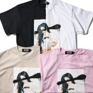 DLSM(ディーエルエスエム) プロモステッカー 半袖 Tシャツ