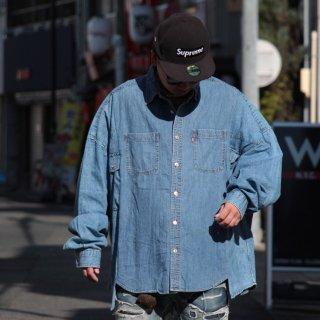 re:new(リニュー)リーバイス ヴィンテージ リメイク ワイド&ビック デニム シャツ<br>re:new Levi's Vintage Remake Big&Wide Shirts 【b】