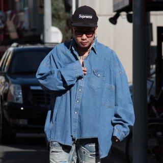 re:new(リニュー)ラングラー ヴィンテージ リメイク ワイド&ビック デニム シャツ<br>re:new Wrangler Vintage Remake Big&Wide Shirts 【i】