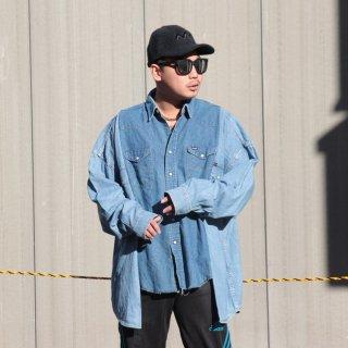 re:new(リニュー)ラングラー ヴィンテージ リメイク ワイド&ビック デニム シャツ<br>re:new Wrangler Vintage Remake Big&Wide Shirts 【1】