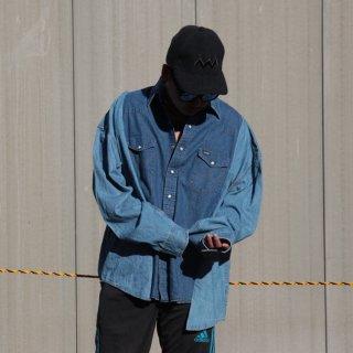 re:new(リニュー)ラングラー ヴィンテージ リメイク ワイド&ビック デニム シャツ<br>re:new Wrangler Vintage Remake Big&Wide Shirts 【2】