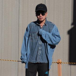 re:new(リニュー)ラングラー ヴィンテージ リメイク ワイド&ビック デニム シャツ<br>re:new Wrangler Vintage Remake Big&Wide Shirts 【5】