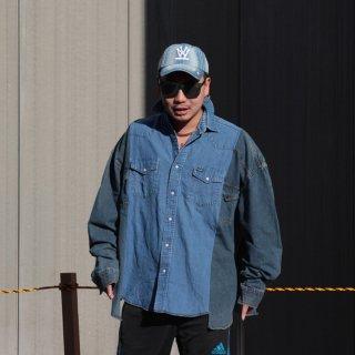 re:new(リニュー)ラングラー ヴィンテージ リメイク ワイド&ビック デニム シャツ<br>re:new Wrangler Vintage Remake Big&Wide Shirts 【6】