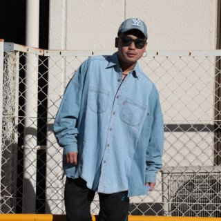 re:new(リニュー)リーバイス ヴィンテージ リメイク ワイド&ビック デニム シャツ<br>re:new Levi's Vintage Remake Big&Wide Shirts 【9】