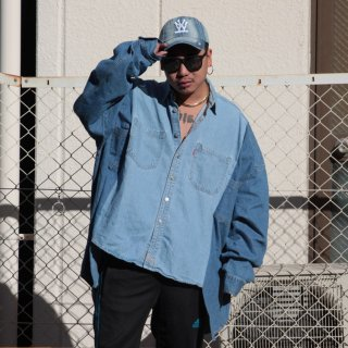 re:new(リニュー)リーバイス ヴィンテージ リメイク ワイド&ビック デニム シャツ<br>re:new Levi's Vintage Remake Big&Wide Shirts 【11】