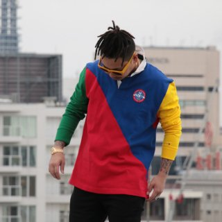 TOMMY HILFIGER(トミーヒルフィガー)カラーブロック ラガーシャツ<br>TOMMY HILFIGER COLOR BLOCK RUGBY SHIRT