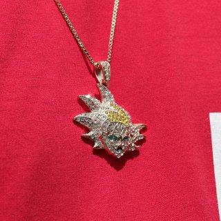 JULY 29(ジュライ トゥエンティー ナイン)悟空 アイス トップ ゴールド チェーン<br>JULY 29 GOKU ICE ZIRCONIA TOP GOLD CHAIN