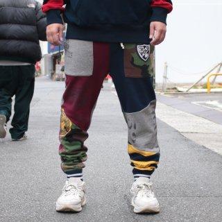 ポロ ラルフローレン パッチワーク スウェット パンツ<br>POLO RALPH LAUREN PATCHWORKED SWEAT PANTS