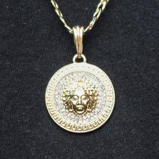 JULY 29(ジュライ トゥエンティー ナイン)メデューサ トップ ゴールド チェーン ネックレス<br>JULY 29 Medusa TOP GOLD CHAIN NECKLACE