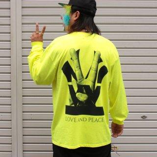 ダブルエヌワイシー ピースロゴ 長袖 Tシャツ<br>W NYC PEACE LOGO L/S TEE