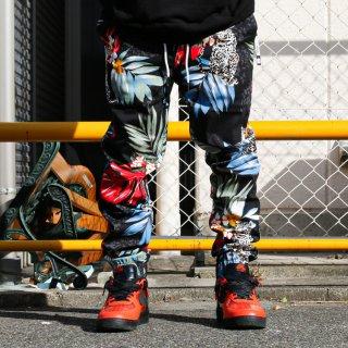 エルウッド トロピカル レオパード ストレッチ ツイル ジョガー パンツ<br>ELWOOD TROPICAL LEOPARD STRETCH TWILL JOGGER PANTS