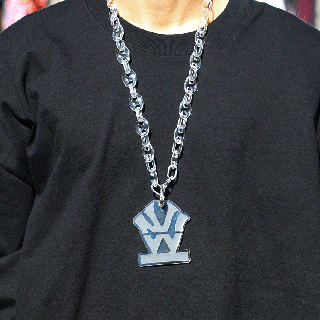 W NYC -HERITAGE LOGO CLEAR CHAIN NECKLACE- MADE BY SUICIDE ATTACKER
