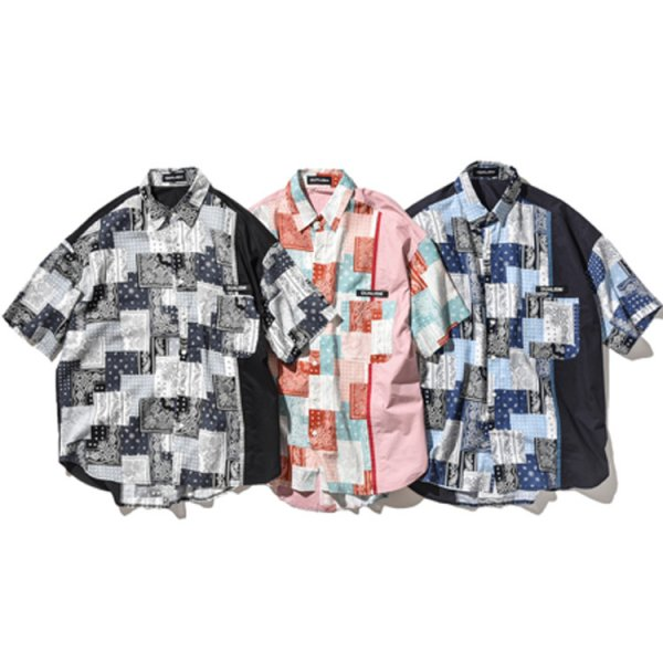 DUALISM PAISLEY MULTI MIX REFLECT LOGO S/S SHIRT