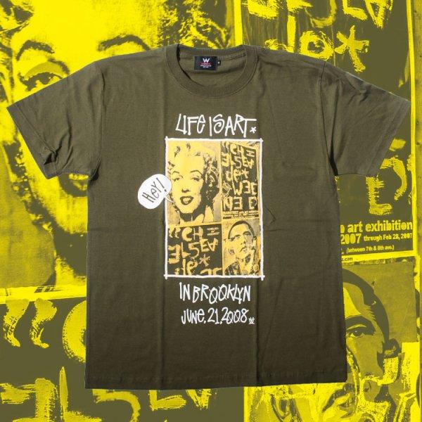 ダブルエヌワイシー ライフ イズ アート 半袖 Tシャツ<br>W NYC LIFE IS ART S/S TEE