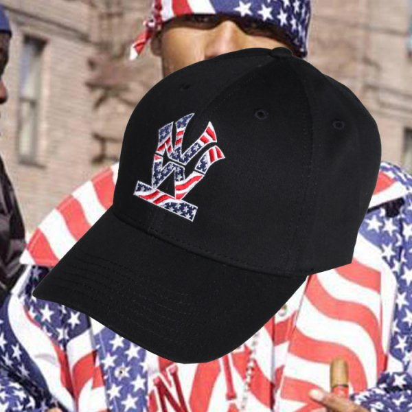 W NYC HERITAGE LOGO STARS AND STRIPES STRAPBACK CAP