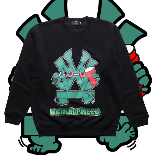 W NYC ダブ吉 CREW NECK SWEAT