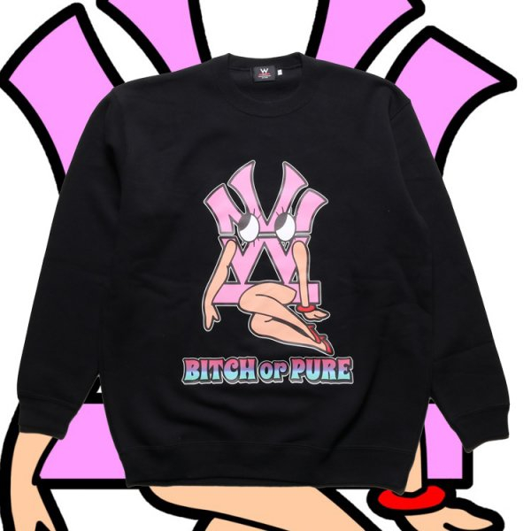 W NYC ダブ美 CREW NECK SWEAT