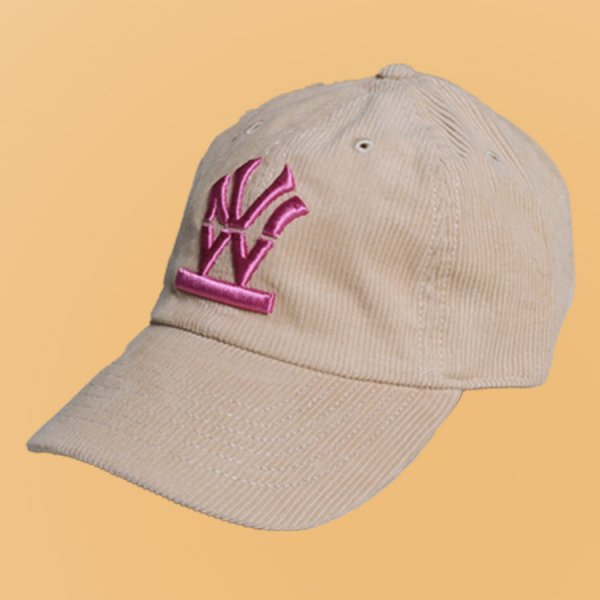 W NYC HERITAGE LOGO CORDUROY STRAPBACK CAP