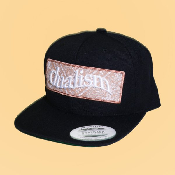 【W N.Y.C.別注】DUALISM PAISLEY BOX LOGO SNAPBACK CAP