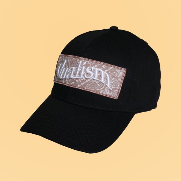 【W N.Y.C.別注】DUALISM PAISLEY BOX LOGO STRAPBACK CAP