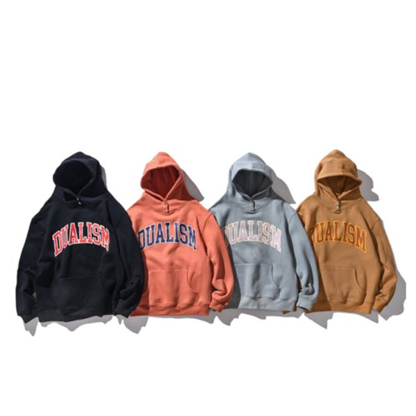 DUALISM SNAP BUTTON ARCH LOGO HOODIE