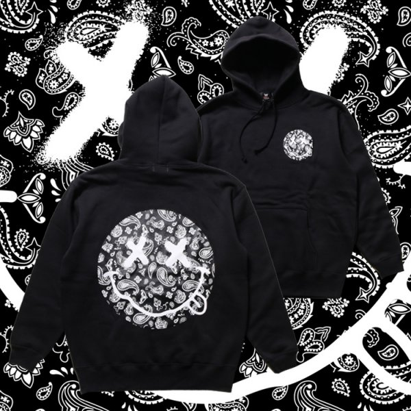 W NYC PAISLEY SMILEY LOGO HOODIE
