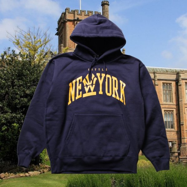 W NYC COLLEGE LOGO PULLOVER HOODIE