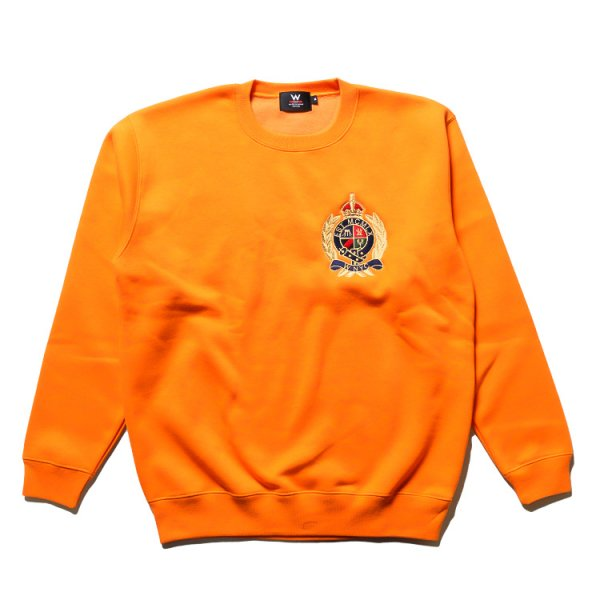 W NYC CREST LOGO CREWNECK SWEAT